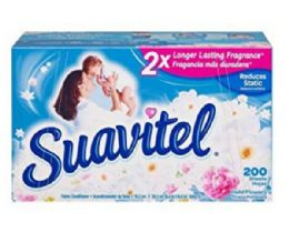 4 Units of SUAVITEL DRYER SHEETS 200 CT FIELD OF FLOWERS - Laundry Detergent