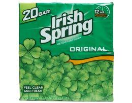 4 Units of IRISH SPRING 20 PK BAR SOAP 3.75 OZ ORIGINAL FEEL CLEAN AND FRESH - Soap & Body Wash