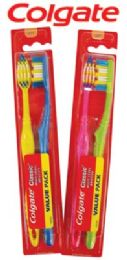 36 Units of Colgate Classic Clean 2pk Toothbrush Soft Full Head - Toothbrushes and Toothpaste