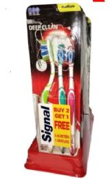 24 Units of Signal Toothbrushes 3 Pk Deep Clean SofT-Medium - Toothbrushes and Toothpaste