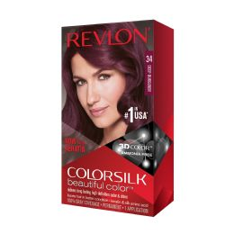 12 Units of COLOR SILK #34 DEEP BURGUNDY - Hair Products