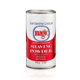 6 Units of MAGIC SHAVE POWDER RED STRONG 4.5 OZ - Shaving Razors