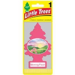 24 Units of LITTLE TREE MORNING FRESH CAR FRESHENER 1'S - Store
