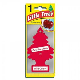 24 Units of LITTLE TREE WILD CHERRY CAR FRESHENER 1'S - Store