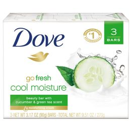 12 Units of Dove Bar Soap 3 Pk 3.17 Oz Cool Moisture - Soap & Body Wash