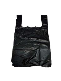 Shopping Bag 1000 Ct 1/8 Size 10x 5.5 X17 Black - Bags Of All Types