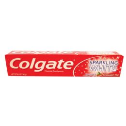 24 Units of COLGATE TOOTHPASTE 6.4 OUNCE SPARKLING WHITE CINNAMINT - Store
