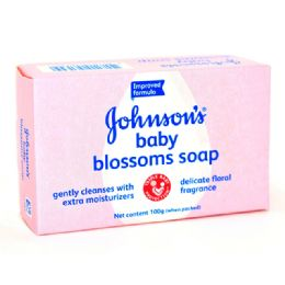 96 Units of JANDJ BABY SOAP BLOSSOM 100GM - Baby Beauty & Care Items