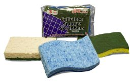 60 Units of UFO CELLULOSE 3PK SPONGE - Scouring Pads & Sponges