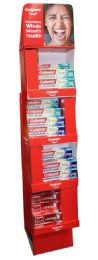48 Units of COLGATE MIX TOOTHPASTE DISPLAY (OPTIC WHITE 3.5 OZ 12PCS) TOTAL ADVANCE WHITENING PASTE 5.1 OZ 18PCS) TOTAL ADVANCE FRESH WHITENING GEL 5.1 OZ 18PCS) - Store