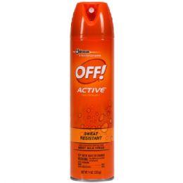 12 Units of Off 9 Oz Active Insect Repellent Aerosol - Bug Repellants