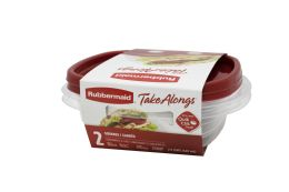 12 Units of Rubbermaid 2ct Sandwich Container Ruby (2 Lids + 2 Containers) 686 Ml/23.2 oz - Food Storage Containers