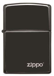 ZIPPO HIGH POLISH BLACK LASER ENGRAVE - Lighters