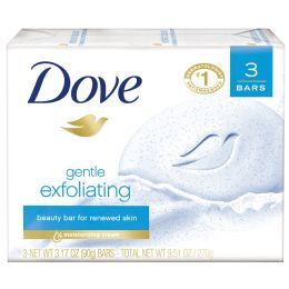 12 Units of Dove Bar Soap 3 Pk 3.17 Oz Exfoliating - Soap & Body Wash