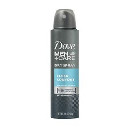 6 Units of Dove 250ml Spray Clean Comfort Men - Deodorant