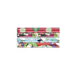 66 Units of Christmas Gift Wrap 40 Sq Ft 40x12' Assorted Style #1 - Christmas Decorations