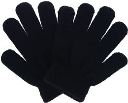 144 Units of Winter Magic Glove Kids Black - Winter Gloves