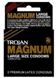12 Units of Trojan 3's Magnum Black (large) - Personal Care Items