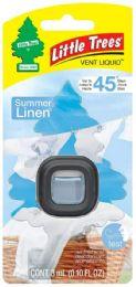 24 Units of Little Tree Vent Summer Linen Liquid - Air Fresheners