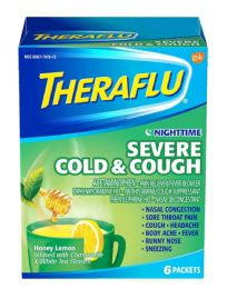 6 Units of Thera Flu Nt Sev Cough/cold - Pain and Allergy Relief
