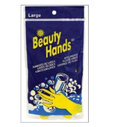 144 Units of LATEX GLOVE LARGE YELLOW FLOCK LINED - Store