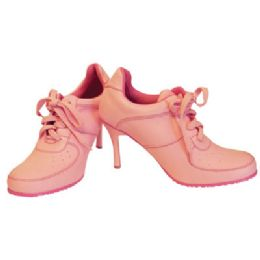 18 Units of LADIES FUNKY HIGH HEEL SNEAKER SHOES SIZES 6-10 PINK BOXED - Women's Heels & Wedges