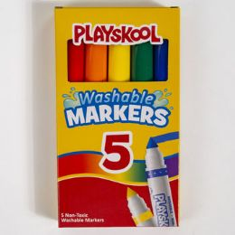 24 Units of MARKERS 5CT BROADLINE WASHABLE - Markers