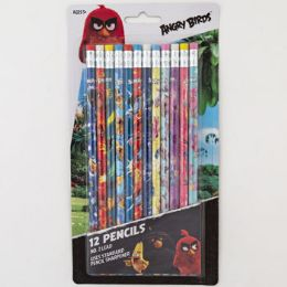 72 Units of PENCILS 12CT ANGRY BIRDS NO.2 - Pencils
