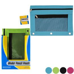 36 Units of Pencil Pouch 3 Hole Binder - Pencil Boxes & Pouches