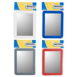 36 Units of Locker Mirror 5x7in Magnetic Red/grey/cobalt Blue/white - Office Accessories