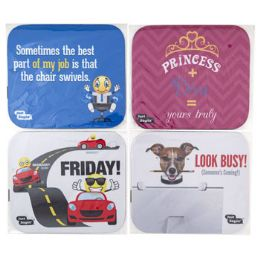 36 Units of Mouse Pad Neoprene W/just Sayin Prints 4ast Pbh - Computer Accessories