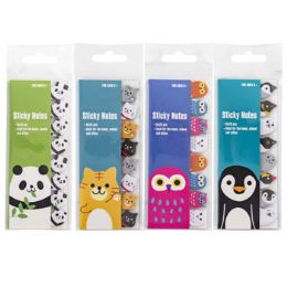 48 Units of STICKY NOTE ANIMAL DIECUT FLAGS - Sticky Note & Notepads