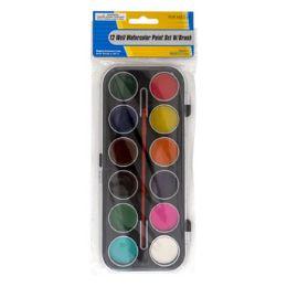 36 Units of 12 Water Color Paint Set With Brush - Art Paints