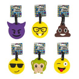 48 Units of Luggage Tag Emoticon 6asst - Travel & Luggage Items