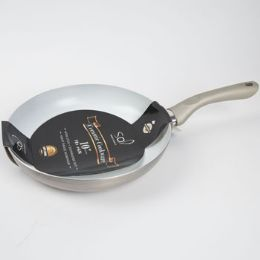 12 Units of Fry Pan 10in Aluminum Silver - Pots & Pans