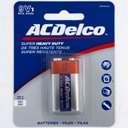 48 Units of Batteries 9 Volt 1pk Heavy Duty Ac Delco On Blister Card - Electronics