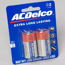 48 Units of Batteries C 2pk Heavy Duty Ac Delco On Blister Card - Electronics