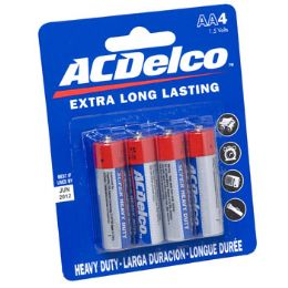 48 Units of Batteries Aa 4pk Heavy Duty Ac Delco On Blister Card - Electronics