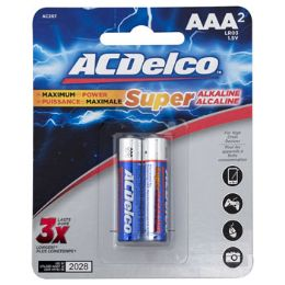 48 Units of Batteries Aaa 2pk Alkaline Ac Delco On Blister Card - Electronics