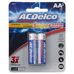48 Units of Batteries Aa 2pk Alkaline Ac Delco On Blister Card - Electronics