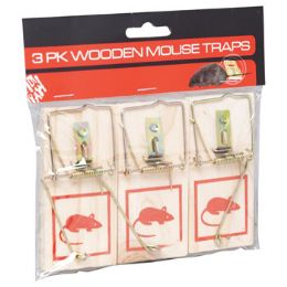 72 Units of Mouse Traps S/3 Wooden - Hardware