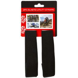 72 Units of Utility Straps Black 2pk 12in - Hardware