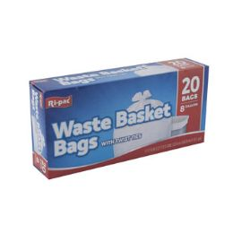 24 Units of Trash Bags 20ct - 8 Gallon - Garbage & Storage Bags