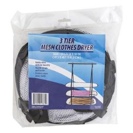 24 Units of Hanging Clothes Dryer 3 Tier Breathable Mesh W/nylon Straps - Hangers
