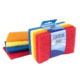 96 Units of Scouring Pad Flat 8 Piece - Scouring Pads & Sponges