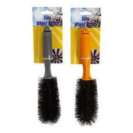 24 Units of Auto Wheel Brush 10in 2 Ast - Auto Cleaning Supplies