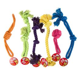 72 Units of Dog Toy Rope Chews 6 Assorted - Pet Toys