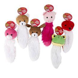 96 Units of Dog Toy Plush 9in Animal Heads - Plush Toys