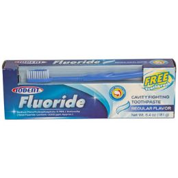 24 Units of TOOTHPASTE FLUORIDE W/TOOTHBRUSH - Toothbrushes and Toothpaste