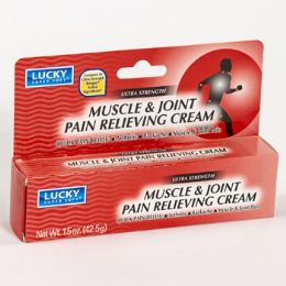 24 Units of Lucky Muscle And Joint Pain Relief 1.5oz Boxed - Pain and Allergy Relief